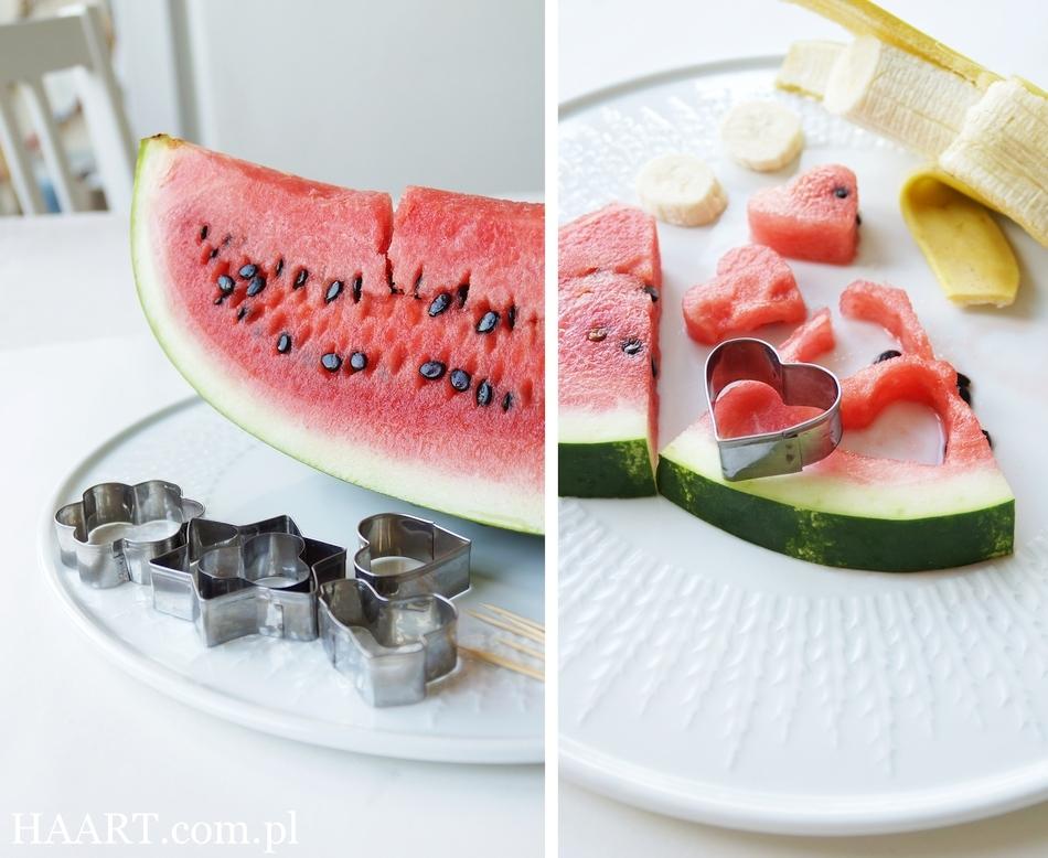 podanie arbuza na 5 sposobów, do jedzenia, jako dekoracja, instrukcja krok po kroku, idealny owoc na gorące dni, lato - haart.pl blog diy zrób to sam 1