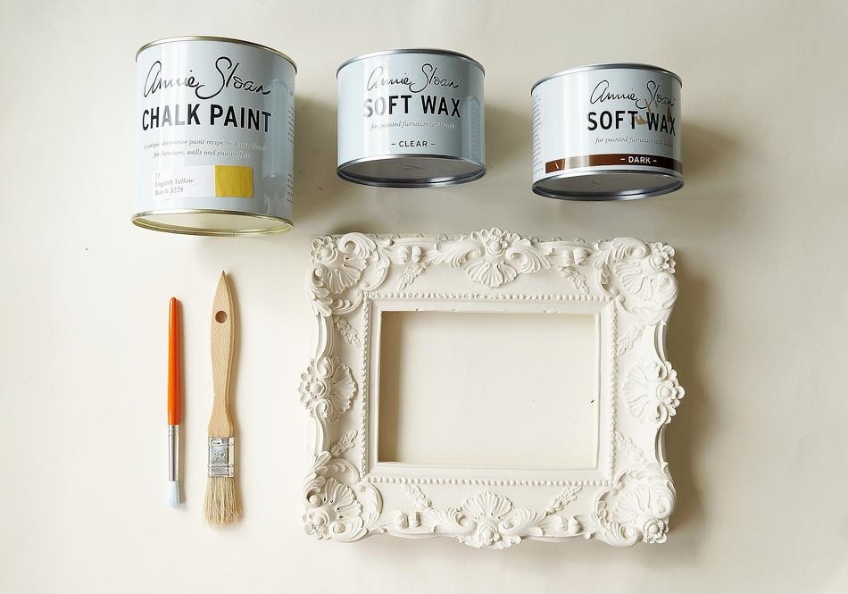 postarzanie gipsowej ramy annie sloan chalk paint soft wax malowanie samodzielnie - haart.pl blog diy zrób to sam 1