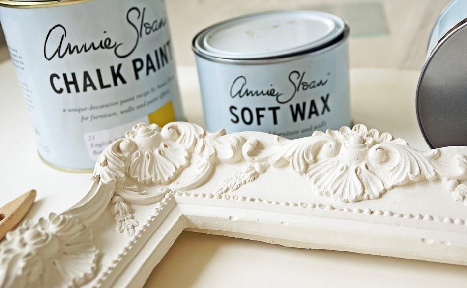 postarzanie gipsowej ramy annie sloan chalk paint soft wax malowanie samodzielnie farba kredowa - haart.pl blog diy zrób to sam 2