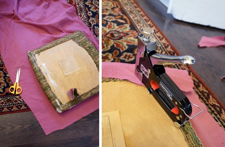 odnawianie krzeseł, zszywacz tapicerski