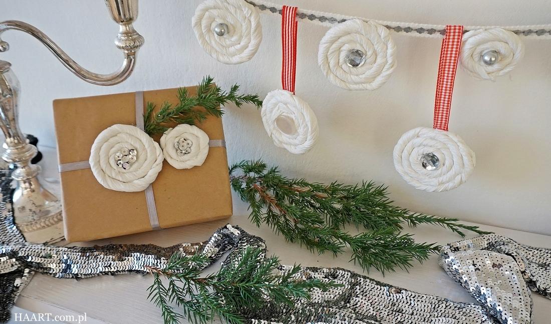 dekoracje z papierowych ręczników, foxy, zawieszka na choinkę, dekoracja prezentów, girlanda, instrukcja krok po kroku - haart.pl blog diy zrób to sam