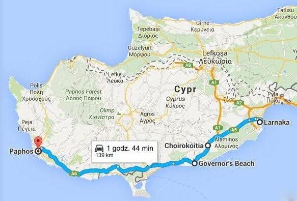 cypr, mapa google