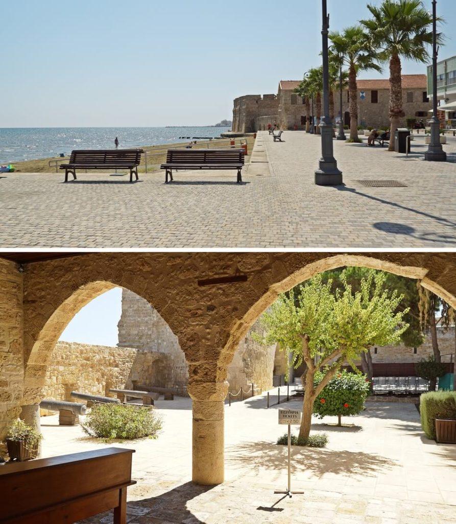 nadmorski fort w larnace na cyprze