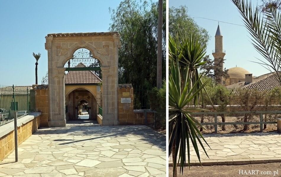 dziedziniec meczetu hala sultan tekke, cypr