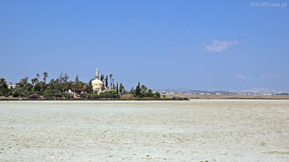 meczet hala sultan tekke, słone jezioro na cyprze