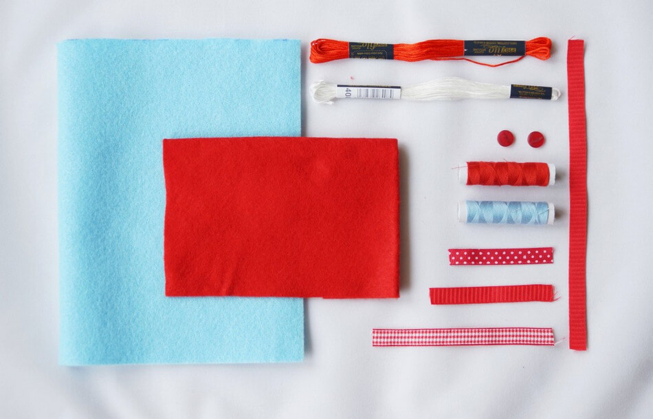 materiały do uszycia pluszaka maskotki z filcu dla dziecka