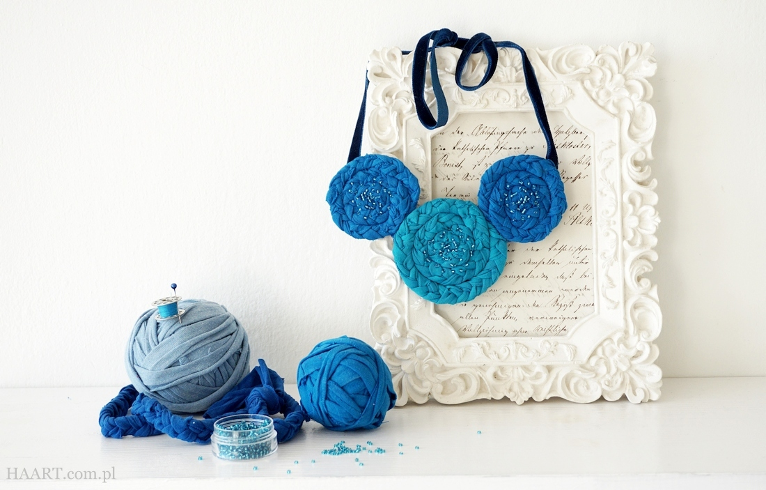 dzień mamy dzień matki 10 pomysłów diy zrób to sam samodzielnie handmade - bawełniany naszyjnik - haart.pl blog diy zrób to sam