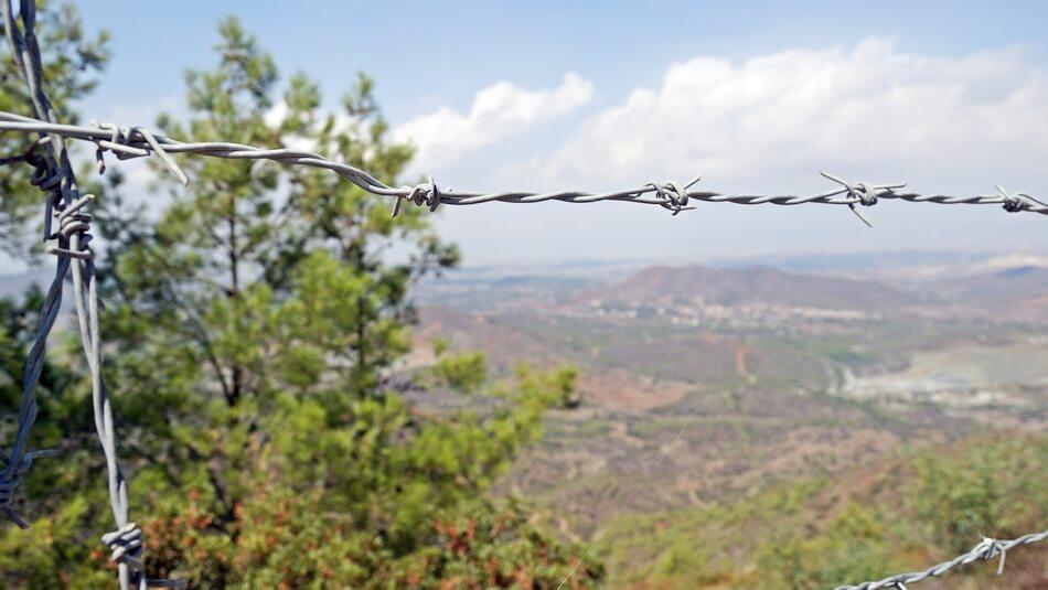cypr zwiedzanie gór troodos, widok na część północną