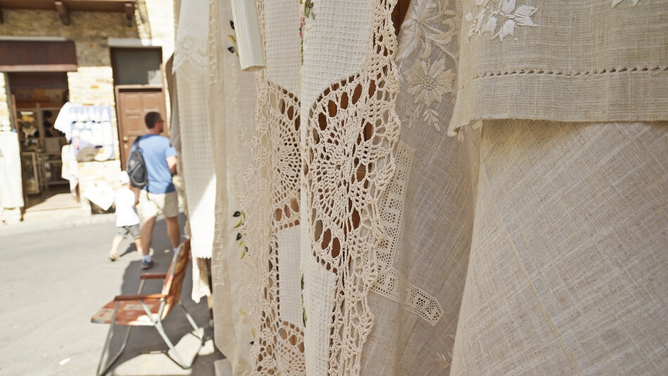 lefkara, stolica koronek i haftów, cypr