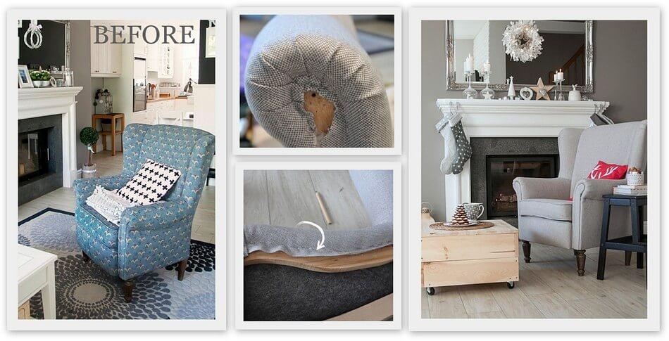 top 5 projektów diy tapicerowanie starego fotela