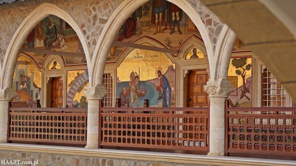 zabytkowy klasztor prawosławny kykkos na cyprze