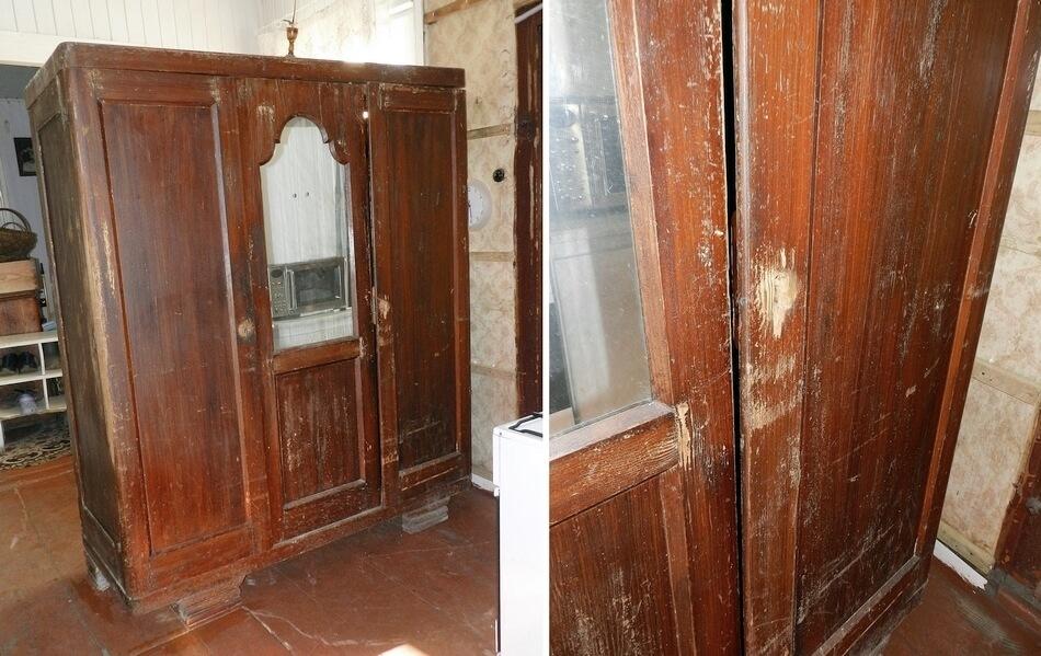 stara zniszczona szafa