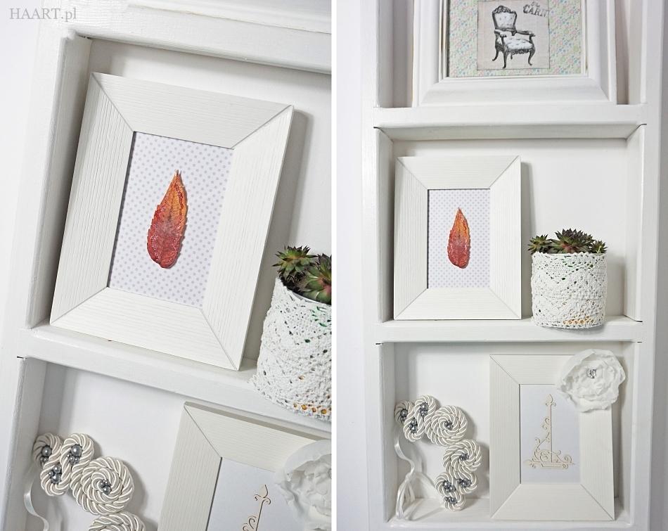 dekoracja z liści i szyszek jesienna dekoracja instrukcja zrób samodzielnie - haart.pl blog diy zrób to sam 4