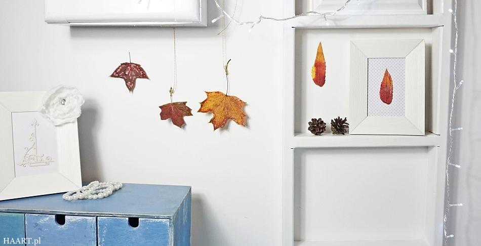 dekoracja z liści i szyszek jesienna dekoracja instrukcja zrób samodzielnie - haart.pl blog diy zrób to sam 3