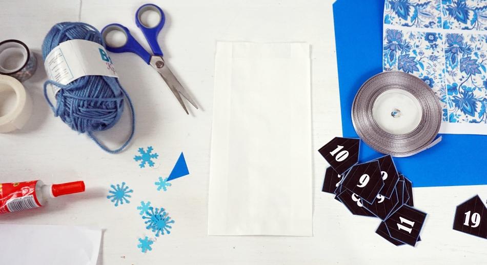 kalendarz adwentowy do druku, wydrukuj bezpłatnie szablon, torebki śniadaniowe, sznurek, słodycze, stwórz samodzielnie, instrukcja - haart.pl blog diy zrób to sam 2