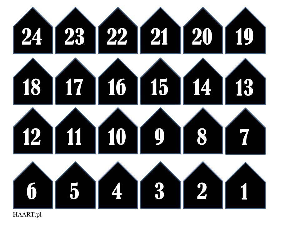 kalendarz adwentowy do druku, wydrukuj bezpłatnie szablon, torebki śniadaniowe, sznurek, słodycze, stwórz samodzielnie, instrukcja - haart.pl blog diy zrób to sam 3