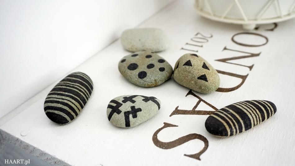 dekoracja z kamieni cienkopis lakier do włosów lakier do paznokci instrukcja krok po kroku zrób samodzielnie ozdobę - haart.pl blog diy zrób to sam 3