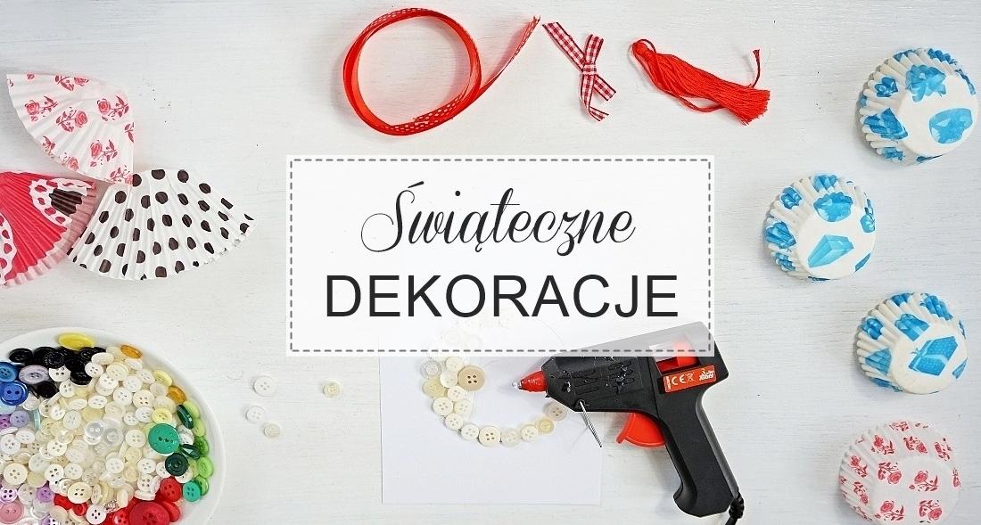 Świąteczne dekoracje pokoju, choinki z papilotek, płatki śniegu, bombka z guzików, rama samodzielnie, ozdoby na boże narodzenie wigilia - haart.pl blog diy zrób to sam header