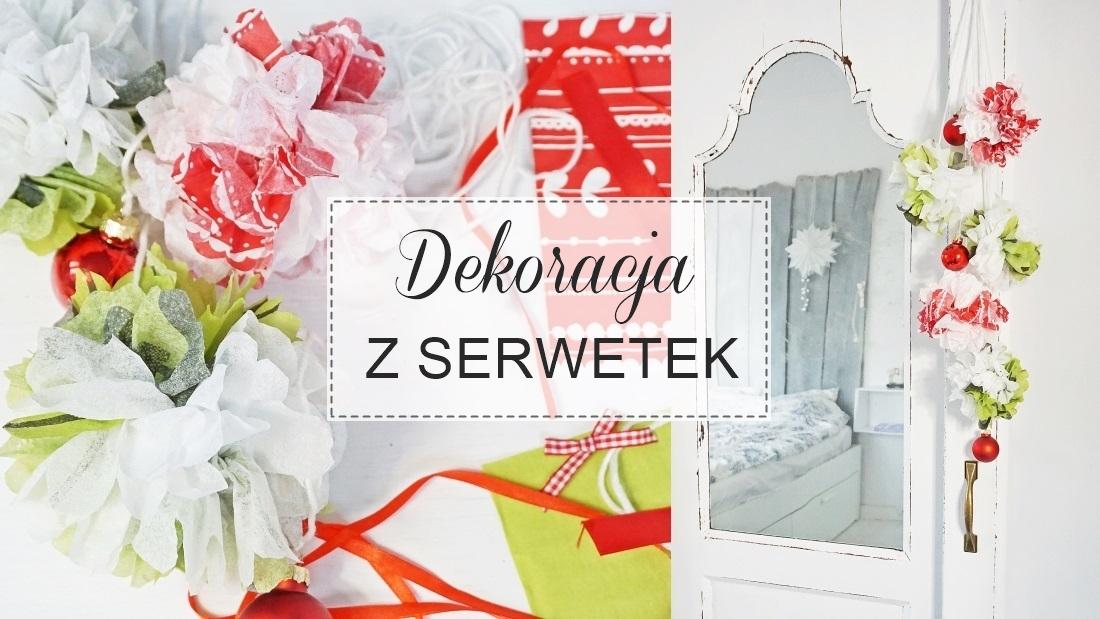 dekoracja z serwetki, boże narodzenie, święta, ozdoba girlanda, papier, sznurek samodzielnie - haart.pl blog diy zrób to sam