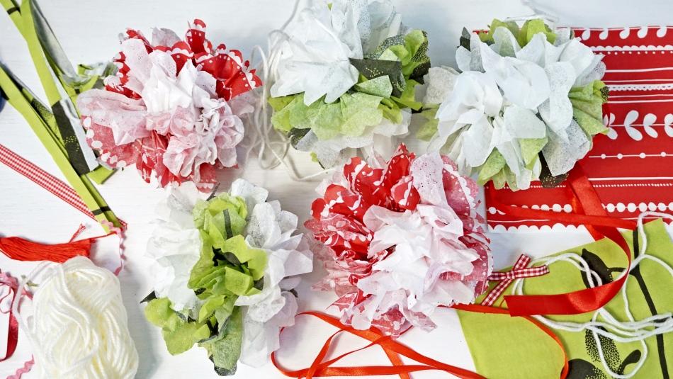 dekoracja z serwetki na boże narodzenie diy