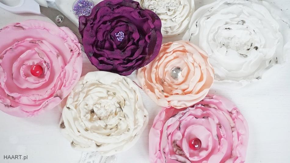 kwiaty z materiału uszyj to sama diy krok po kroku - haart.pl blog diy zrób to sam 1
