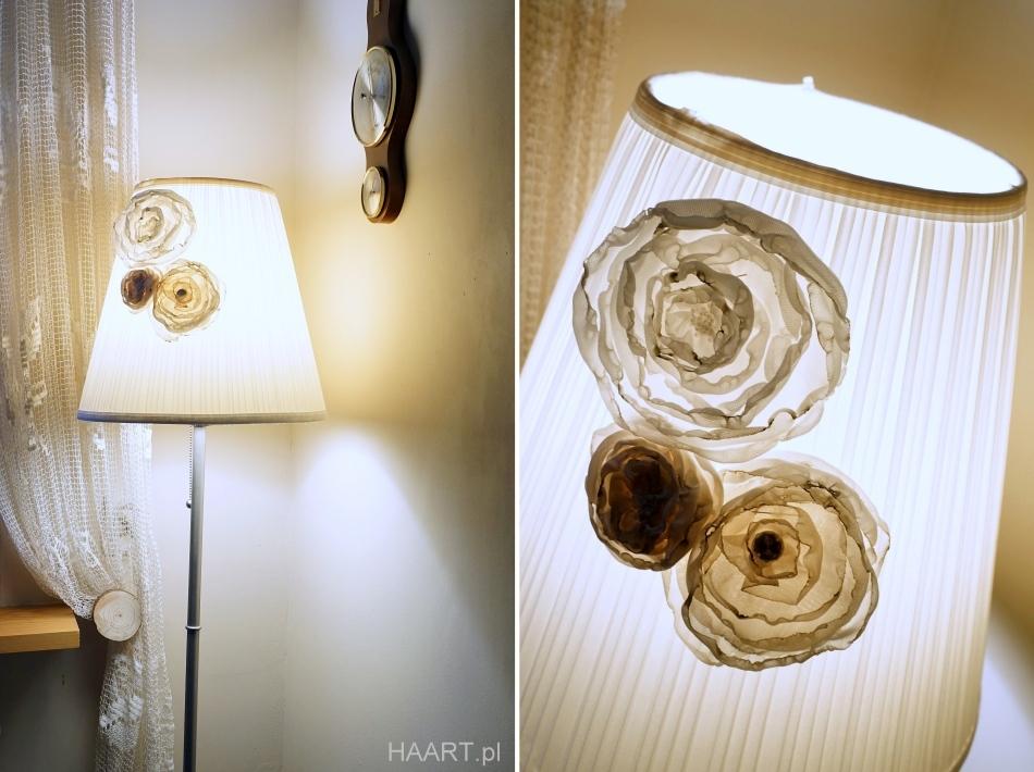kwiaty z materiału uszyj to sama diy krok po kroku abażur - haart.pl blog diy zrób to sam 3
