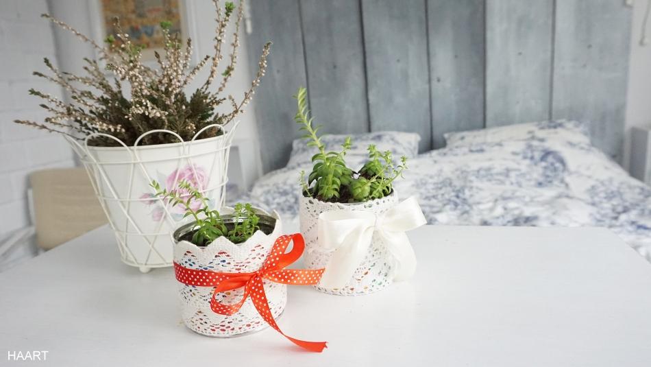 doniczki z puszek upcycling recycling na kwiaty - haart.pl blog diy zrób to sam 1