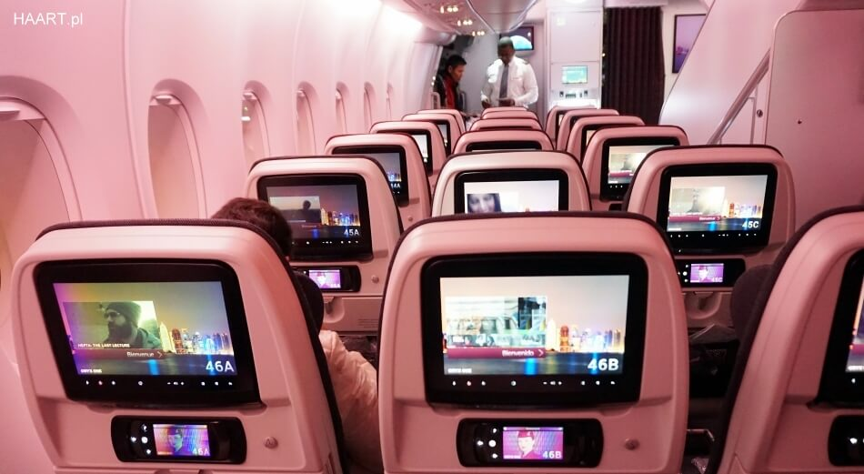 qatar airways airbus a380 interior wnętrze