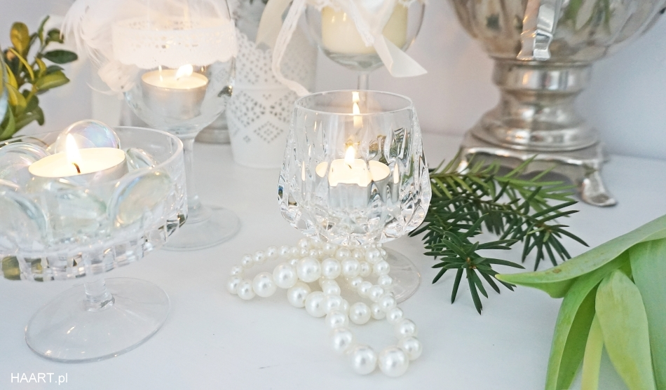 świeczniki z kieliszków, dekoracje samodzielnie - haart.pl blog diy zrób to sam 5
