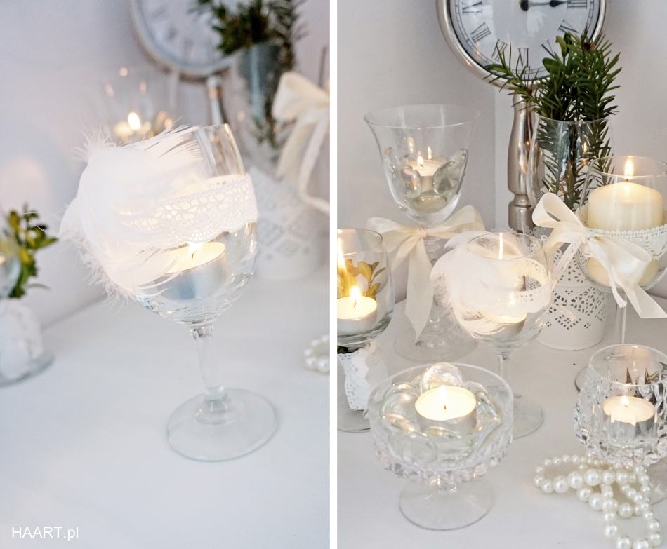 świeczniki z kieliszków, dekoracje samodzielnie - haart.pl blog diy zrób to sam 4