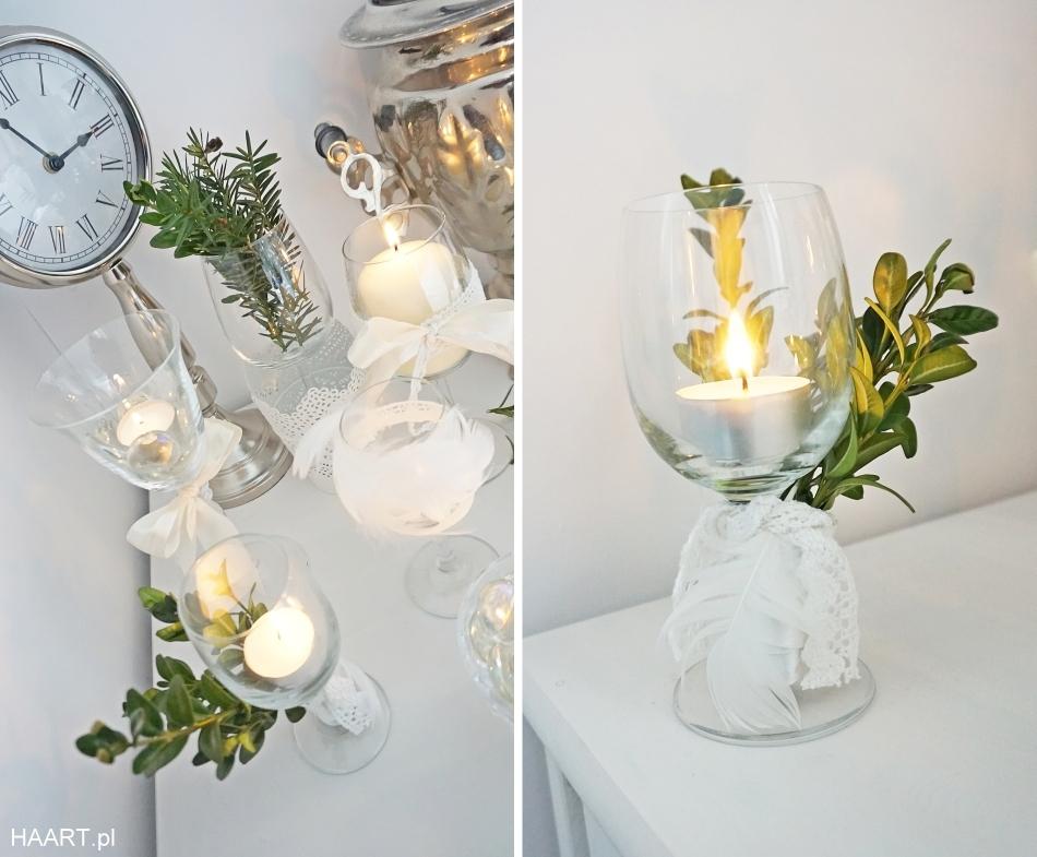świeczniki z kieliszków, dekoracje samodzielnie - haart.pl blog diy zrób to sam 2