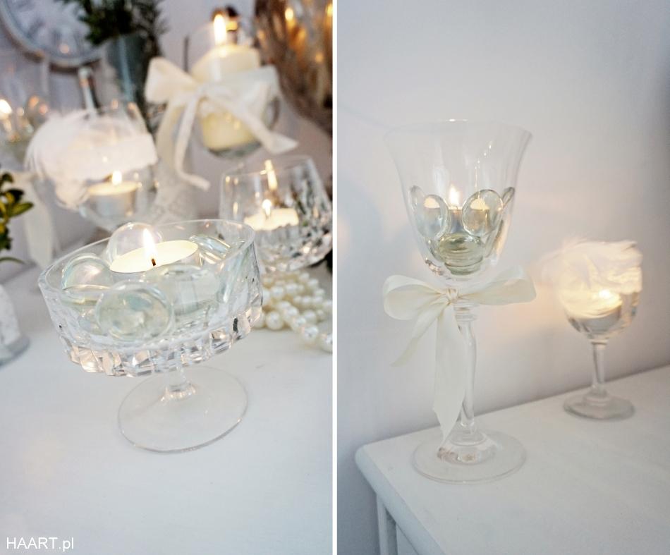 świeczniki z kieliszków, dekoracje samodzielnie - haart.pl blog diy zrób to sam 3