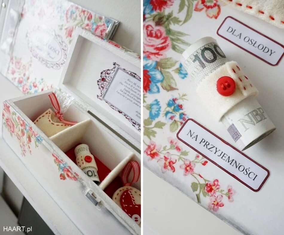 pudełko z życzeniami, prezent na ślub dla młodej pary