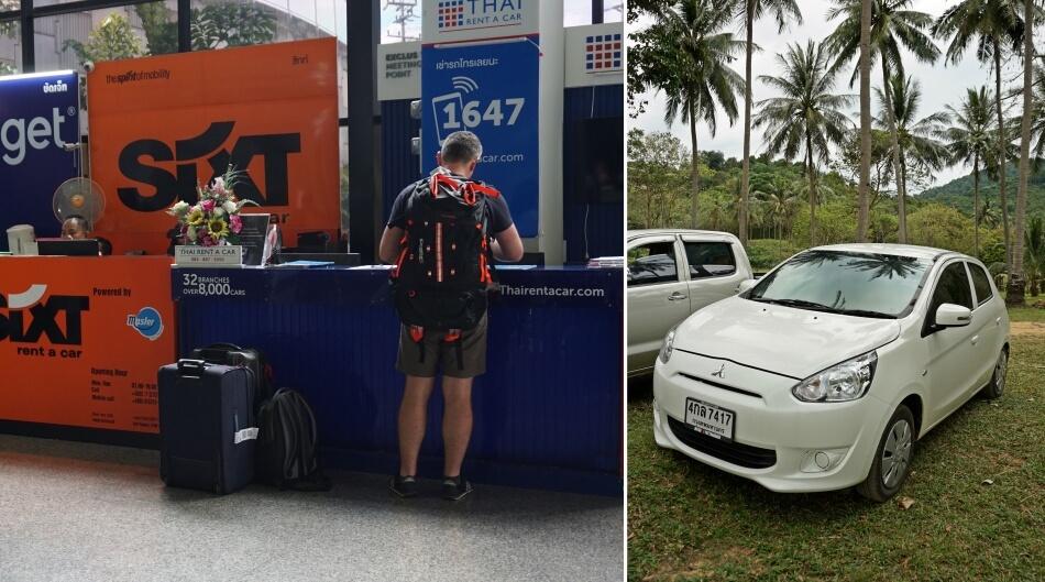 tajlandia samochodem wypożyczalnia na lotnisku krabi mitsubishi eclipse