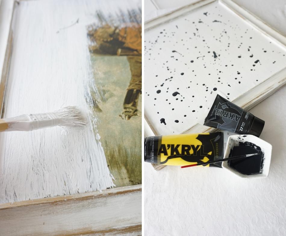 jak namalować obraz, farba akrylowa, lakier do paznokci, malowanie na płótnie, podobrazie, malowanie nauka - haart.pl blog diy zrób to sam 1