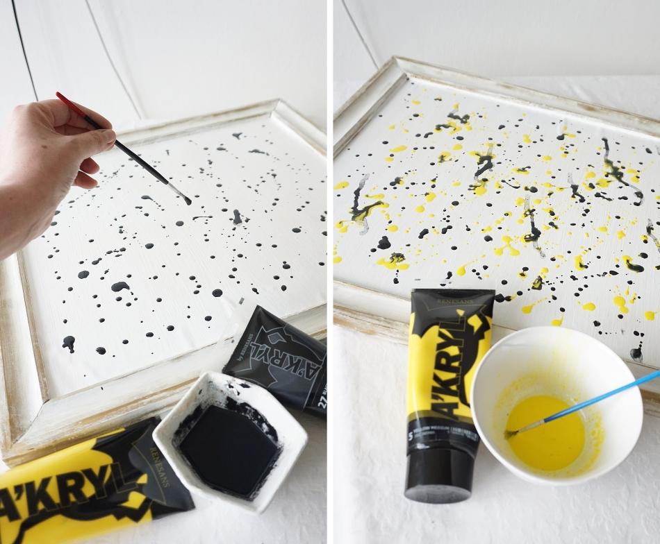 jak namalować obraz, farba akrylowa, lakier do paznokci, malowanie na płótnie, podobrazie, malowanie nauka - haart.pl blog diy zrób to sam 2