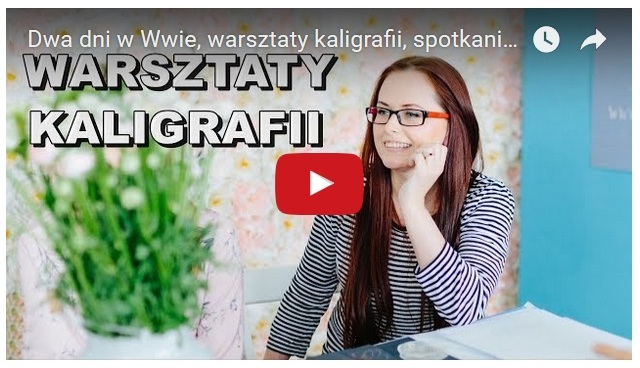 Kaligrafia nowoczesna - warsztaty ze Styletter w Warszawie. Spotkanie blogerek w Her Eyes Studio you tube film - haart.pl blog diy zrób to sam 1