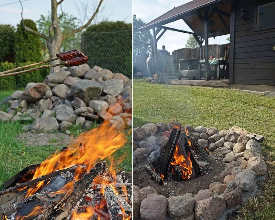 ognisko ogrodowe z kamieni polnych zrób to sam diy