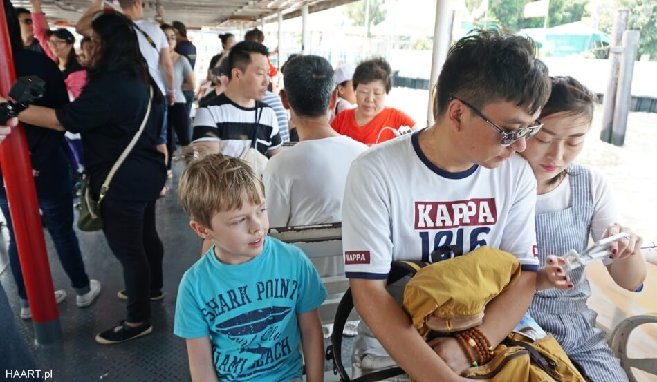 bangkok autobus rzeczny pasażerowie