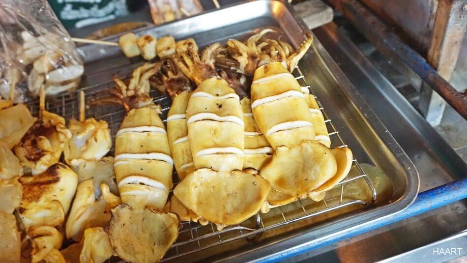 tajlandia street food jedzenie ośmiorniczki squid