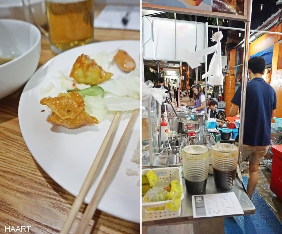 mieszkanie w bangkoku jedzenie street food pod domem