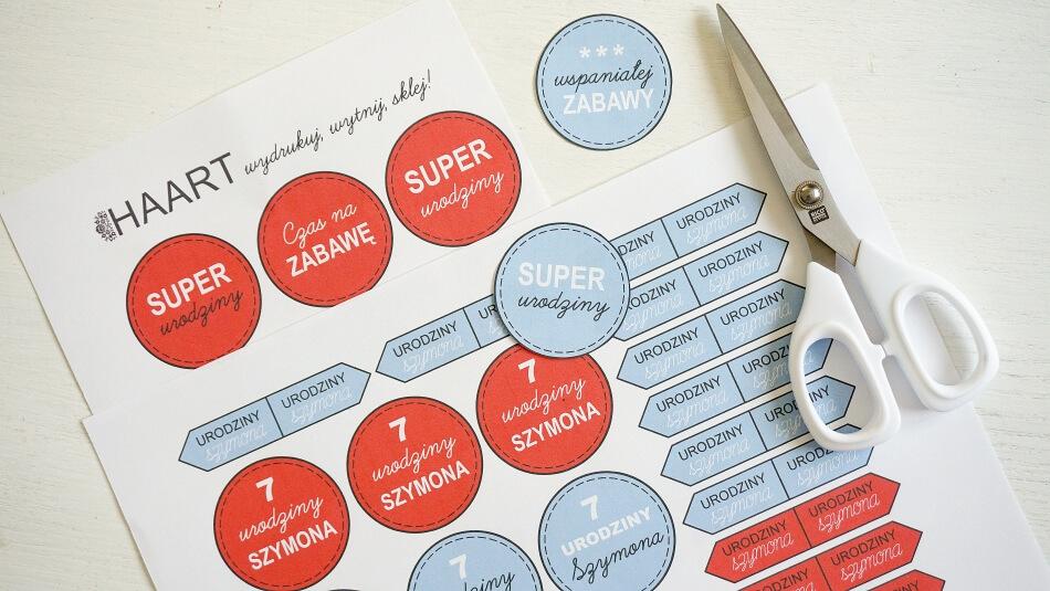 szablon do wydrukowania, znaczniki na urodziny dziecka diy