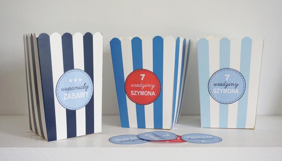 naklejki na pudełka, dekoracje urodzinowe dla dzieci diy, szablon