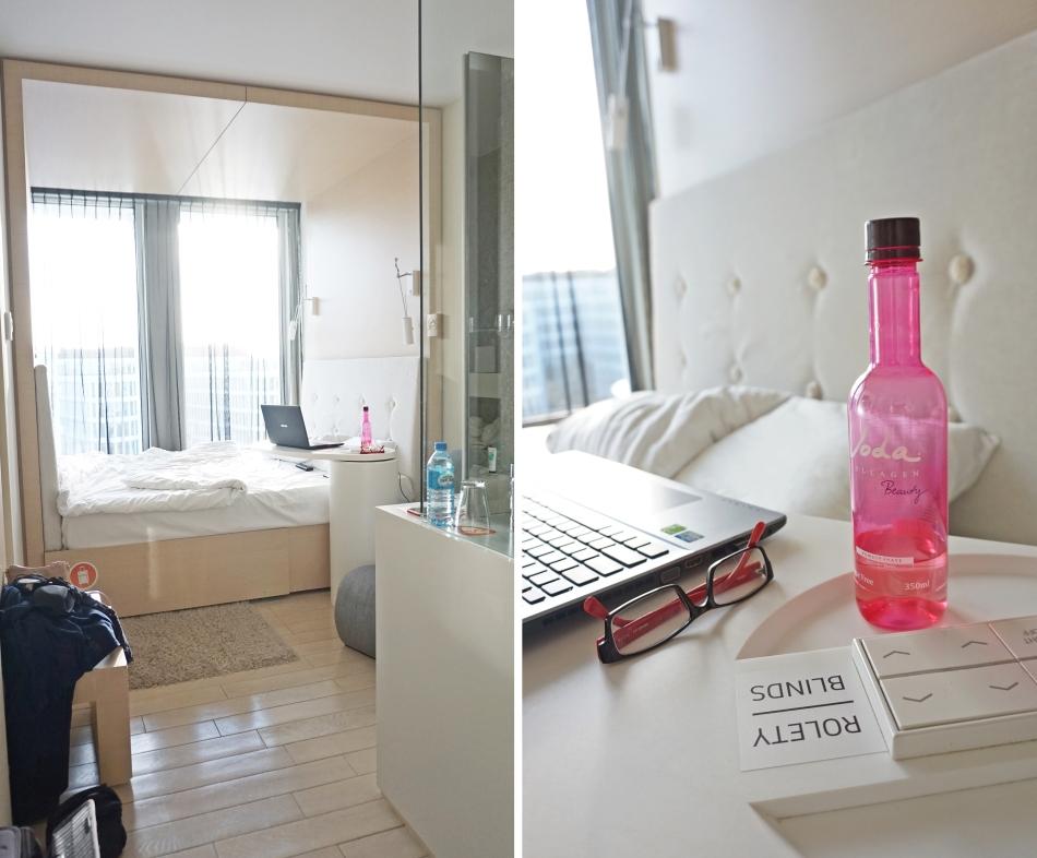 pokój w Sound Garden Hotel, Warszawa, piętro tylko dla kobiet, czwórka polskie radio - haart.pl blog diy zrób to sam