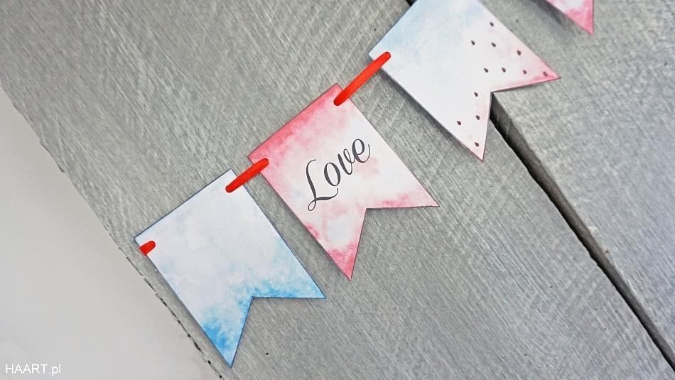 Malowanie akwarelami, pobierz bezpłatnie do druku, Girlanda do druku. Mocowanie blu tack. HAART.pl blog DIY zrób to sam