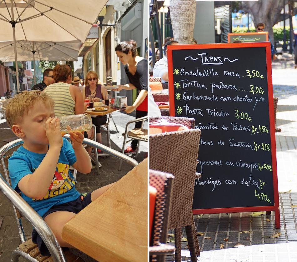 gran canaria ceny hiszpania co jeść gdzie kupować i ile płacić podróże z dzieckiem wakacje tapas - haart.pl blog diy zrób to sam 7