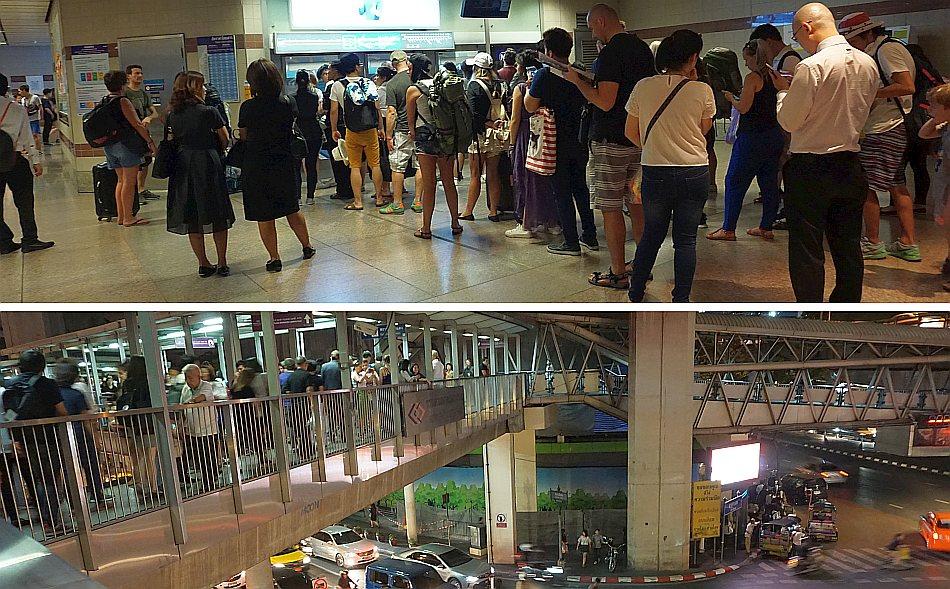ayutthaya, bangkok, tajlandia, rush hours, szczyt komunikacyjny, biletomat, ruch uliczny, tłum ludzi - haart.pl blog diy zrób to sam