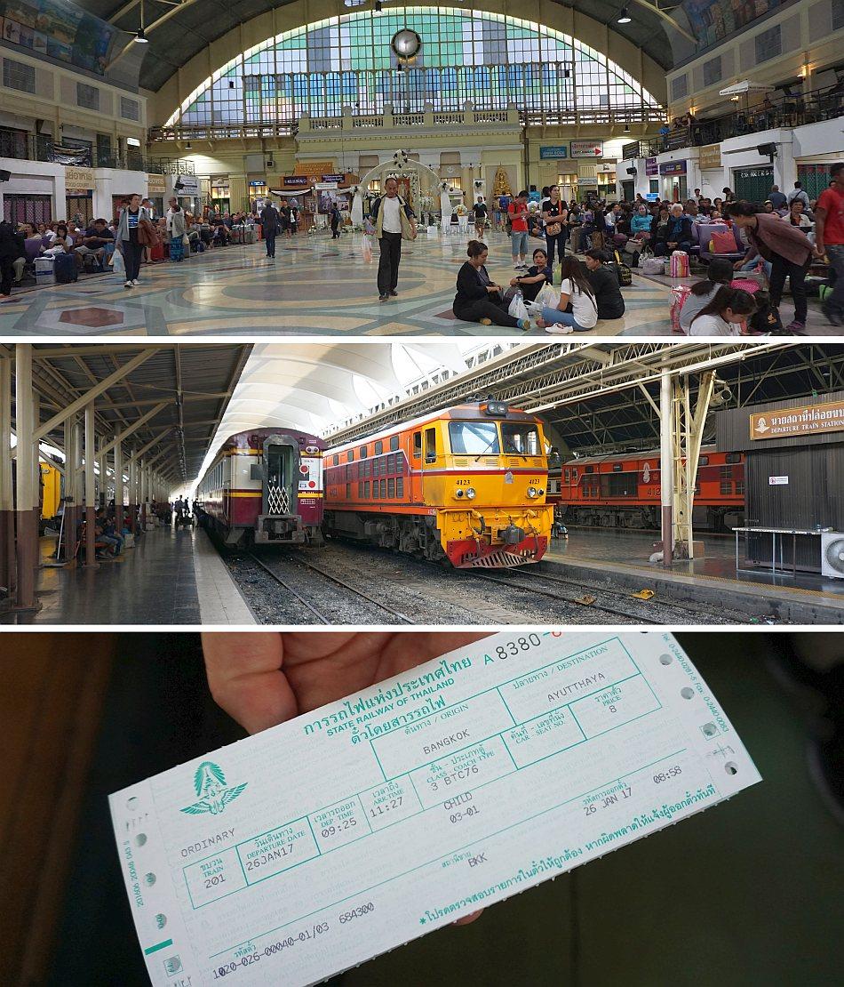 ayutthaya stacja kolejowa, dworzec główny hua lompong, tajlandia, bangkok, podróż pociągiem, poczekalnia, bilet, relacja - haart.pl blog diy zrób to sam