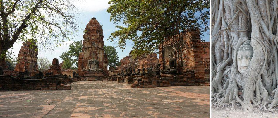 ayutthaya, tajlandia, bangkok, wat maha that, głowa buddy w korzeniach drzewa bohdi, świątynia, relacja z wycieczki - haart.pl blog diy zrób to sam