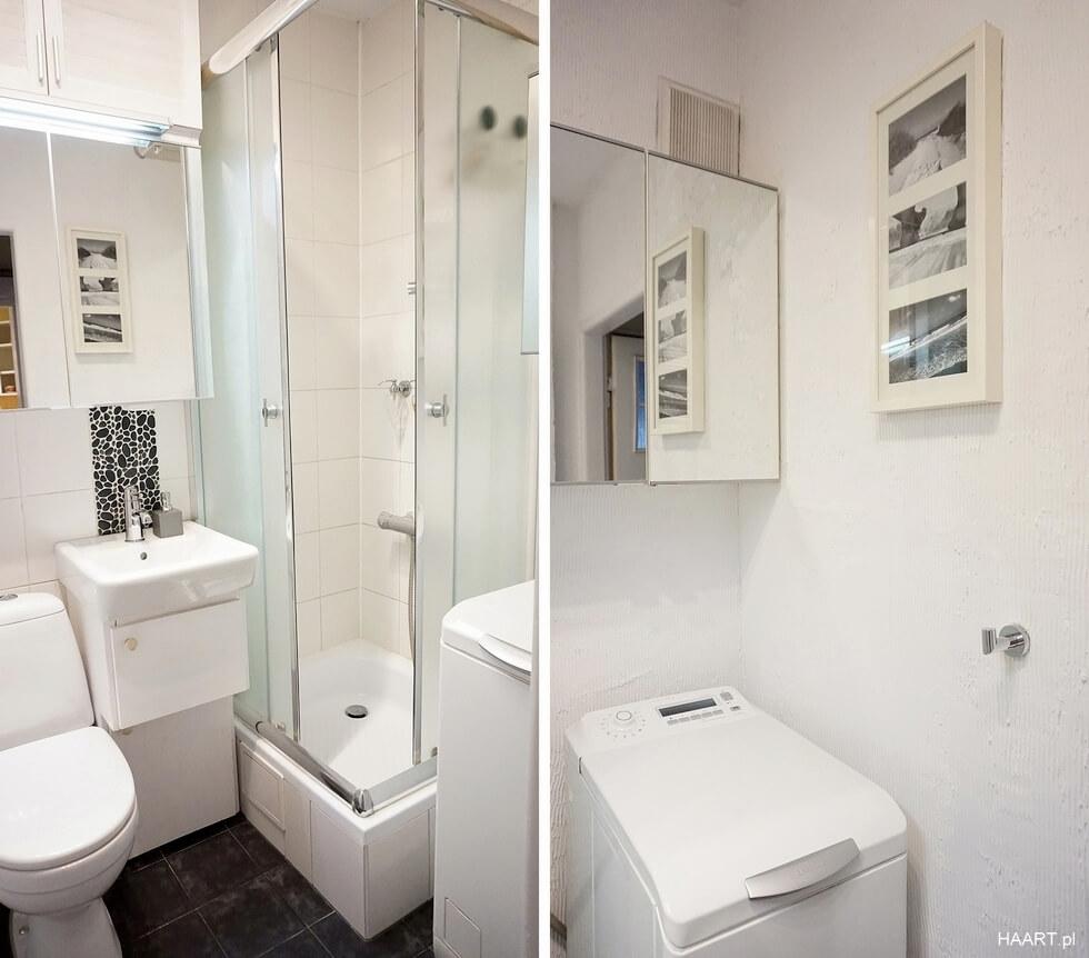 remont małej łazienki, biała łazienka po remoncie